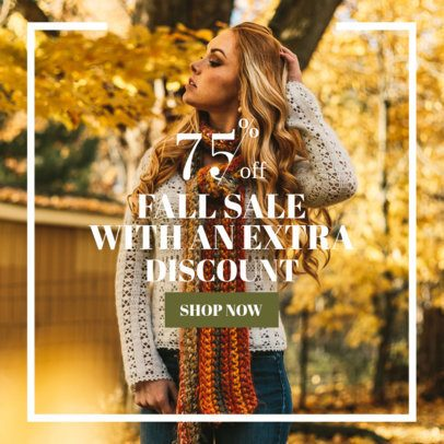Fall Discount Online Banner Maker 362h-1770