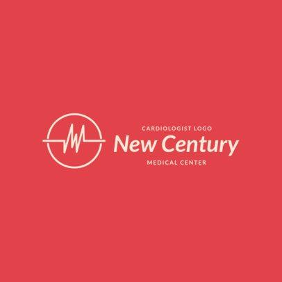 Minimalist Logo Template For a Heart Medical Center 2510a