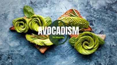 YouTube Banner Maker for Vegan Vloggers with Avocado Icon 344b-1819