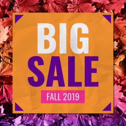 Online Banner Maker for a Big Fall Sale 546j-1770