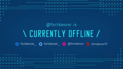 Twitch Offline Banner Maker with a Blue Tech Background 975b--1762