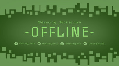 Twitch Offline Banner Maker with a Geometric Background with Square 975c--1762