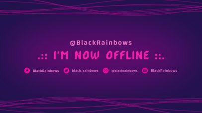 Abstract Twitch Offline Banner Maker with Neon Lines 975d--1762