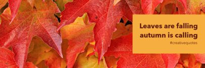 Fall Twitter Header Maker with Leaves in the Background 1089f-1769