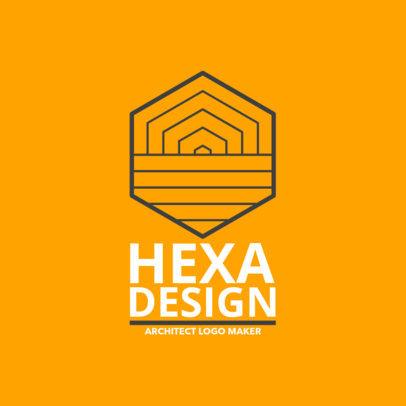 Logo Maker Featuring an Abstract Hexagonal Design 1282g 2512