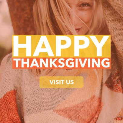 Online Banner Maker for a Thanksgiving Celebration 543f-1770