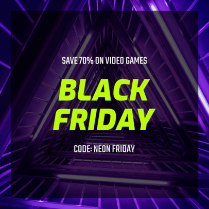 Simple Instagram Post Template for a Black Friday Special Sale 634u-1782