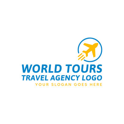 Logo Template for a World Tour Travel Agency 2504