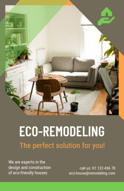 Eco-Remodeling Services Flyer Maker 733c--1762