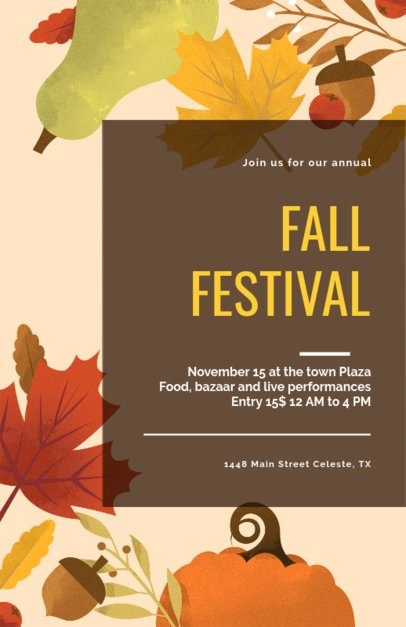 Online Flyer Maker for a Fall Festival 275f-1767