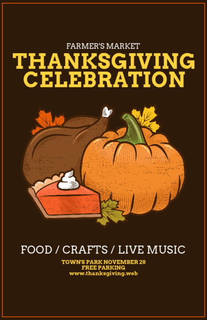 Online Flyer Maker for a Thanksgiving Celebration 163f-1767