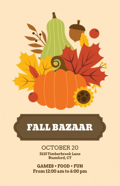Flyer Maker for a Fall Bazaar 200f-1767