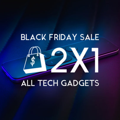 Black Friday Instagram Post Maker for Tech Deals 564r-1782