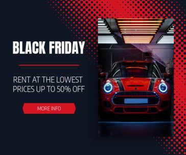 Black Friday Facebook Post Creator for a Car Rental Business 645f-1784