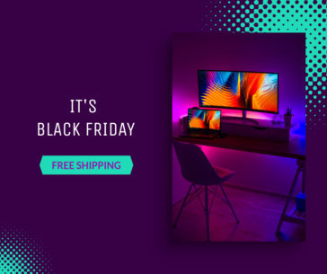 Black Friday Facebook Post Creator for an Electronic Sale 645h-1784
