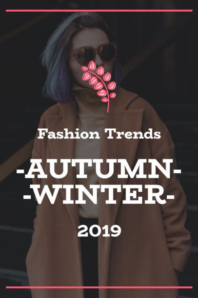 Pinterest Pin Template for Fall Season Fashion Trends 1768a