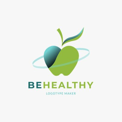 Nutritionist Logo Template with a Healthy Apple Graphic 2536h