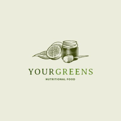 Classic Logo Generator for a Nutritionist Featuring Healthy Food 2536i