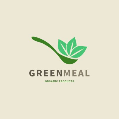 Nutritionist Logo Maker Featuring a Spoon Graphic with Organic Food 2536j