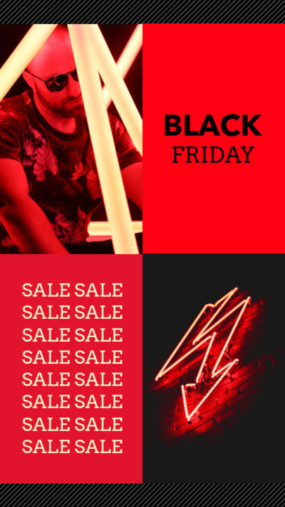Vibrant Instagram Story Template for a Black Friday Sale 967f 1781