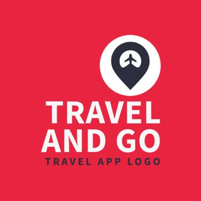 Modern Logo Maker for a Travel App 2504h