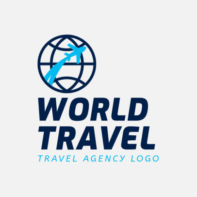 Travel Agency Logo Template with a World Clipart  2504a