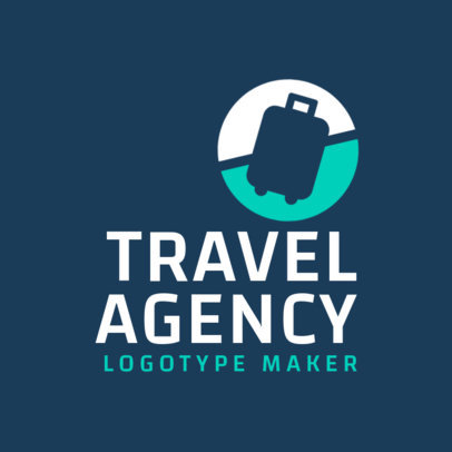 Logo Template for a Travel Agency with a Baggage Icon 2504b