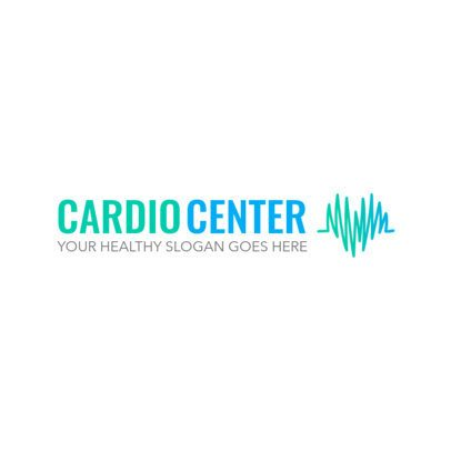 Logo Generator for a Cardio Center with a Minimalist Heart Graphic 2509g
