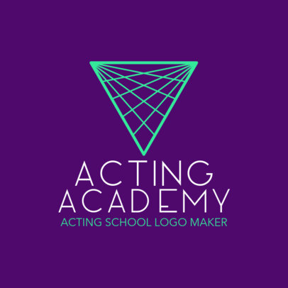 Acting Academy Logo Maker with a Minimalist Graphic 1301f-2535
