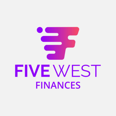 Logo Generator for a Finance Company with a Dynamic Graphic 1517b 2537
