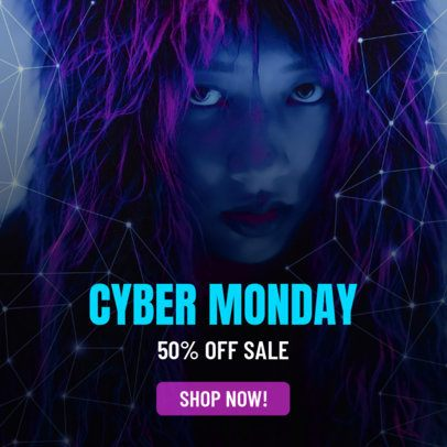 Cool Online Banner Maker For Cyber Monday Sale Discount 742k 1794