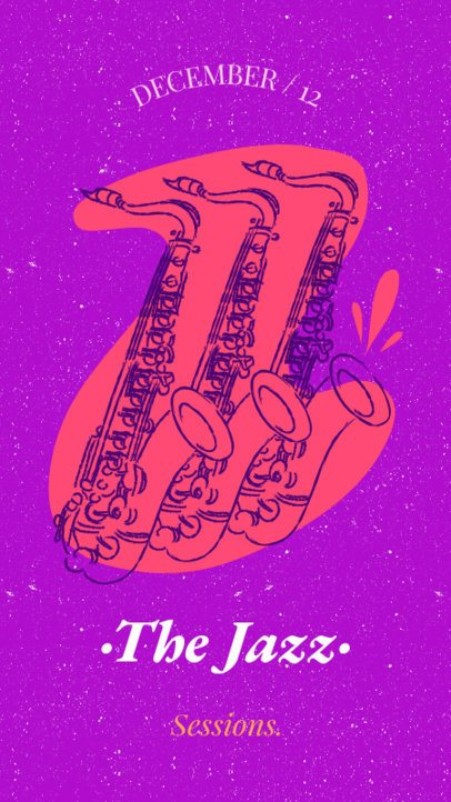 Musician Instagram Story Maker Featuring Multiple Saxophone Clipart 1773c