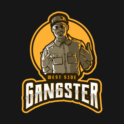 GTA-Inspired Gaming Logo Maker Featuring a West Coast Gangster Character 2507n