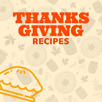 Instagram Post Creator for a Thanksgiving Day Post 563q-1765