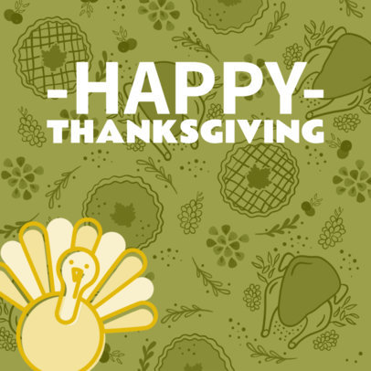 Social Media Post Maker for a Thanksgiving Instagram Post 563r-1765