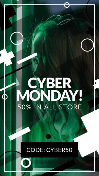 Cyber Monday Instagram Story Template for Online Deals 582h-1793