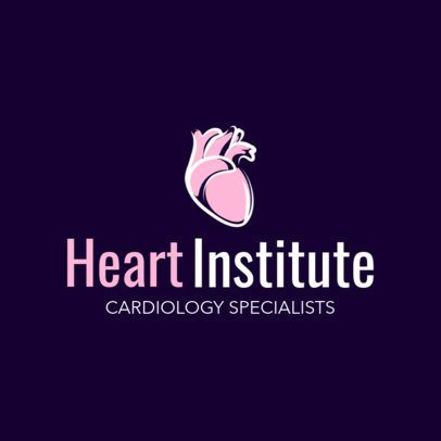 Online Logo Maker for a Heart Institute 2508d