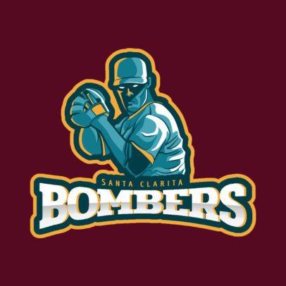 Sports Logo Maker Featuring a Baseball Pitcher Clipart 172k-2547