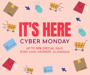 Illustrated Facebook Post Maker for Cyber Monday Special Offers 622n-1798