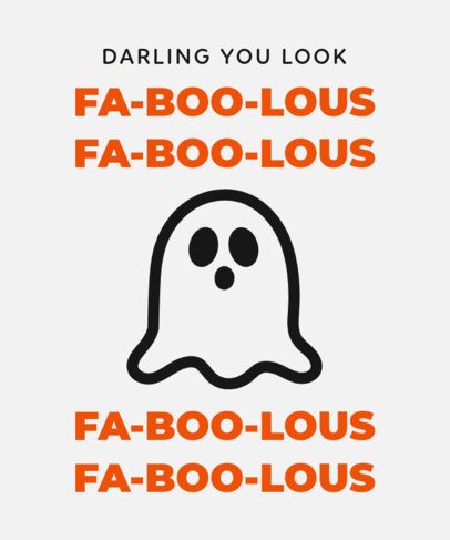 Self-Appreciation Quote T-Shirt Design Generator with a Ghost Clipart 1808g