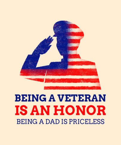 Veterans Day T-Shirt Design Creator with a Soldier Salutating 1812g