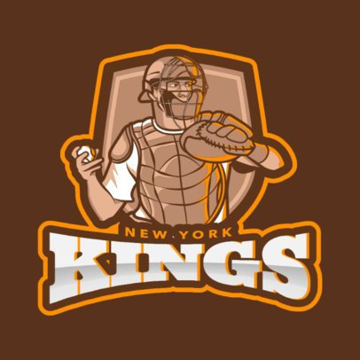 Baseball Logo Maker with a Catcher 172o-2543