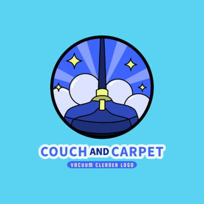 Logo Template for Carpet Cleaning with a Vacuum Illustration 2550a