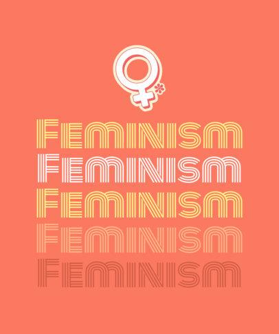 T-Shirt Design Creator with a Feminist Retro Sticker 1809d