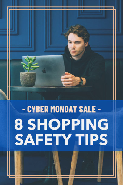 Pinterest Pin Creator for Shopping Tips on Cyber Monday 1127j-1799
