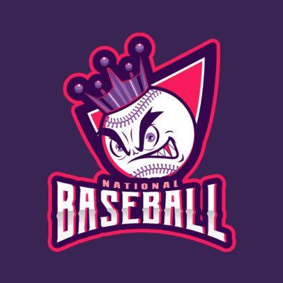 Sports Logo Maker Featuring an Aggressive Baseball Ball Graphic 2542a