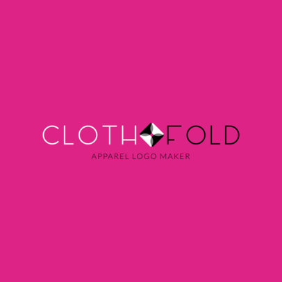Clothing Brand Logo Maker Featuring an Abstract Overlapping Graphic 1290k 2555
