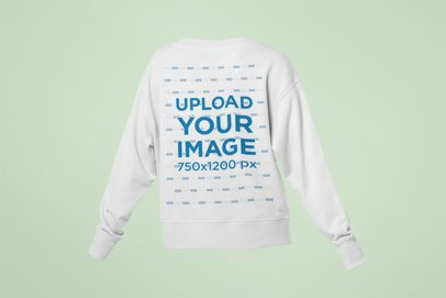 Mockup of a Ghosted Crewneck Sweatshirt for Women 29351