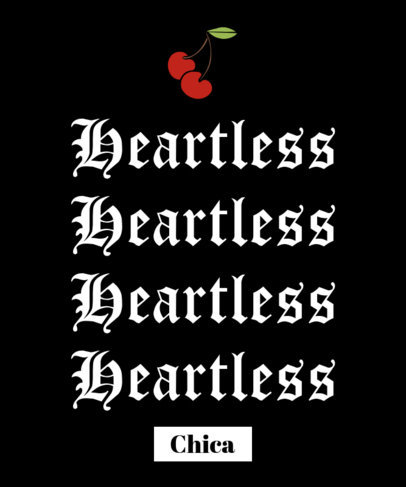Dark T-Shirt Design Maker with a Quote in Gothic Typeface 1810d