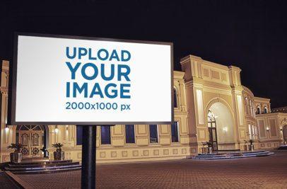 Mockup of a Billboard Outside a Luxurious Building 372-el